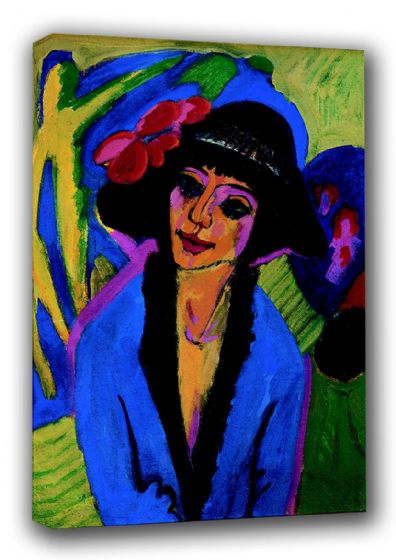 Kirchner, Ernst Ludwig: Portrait of Gerda. Fine Art Canvas. Sizes: A3/A2/A1 (00494)